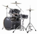 "PEARL EXPORT EXX 20"" FUSION JET BLACK with SABIAN SBR CYMBALS"